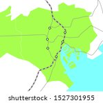 tokyo 23 wards japan area map...   Shutterstock .eps vector #1527301955