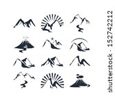 icons set with various alpine... | Shutterstock . vector #152742212