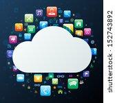 cloud computing concept | Shutterstock .eps vector #152743892