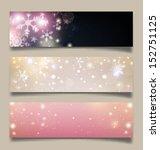set of horizontal christmas ...   Shutterstock .eps vector #152751125