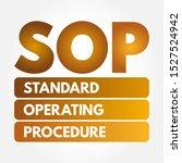 sop   standard operating... | Shutterstock .eps vector #1527524942