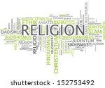 word cloud   religion | Shutterstock . vector #152753492