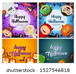 trick or treat orange  blue ...   Shutterstock .eps vector #1527546818