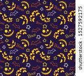 halloween gloomy vector...   Shutterstock .eps vector #1527592175