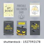 happy halloween printable cards ...   Shutterstock .eps vector #1527592178