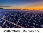 Aerial View Of Hundreds Solar...