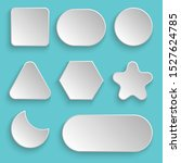 white blank buttons vector...