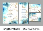 wedding invitation card with... | Shutterstock .eps vector #1527626348