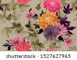 art floral vector seamless... | Shutterstock .eps vector #1527627965
