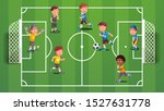boys kids playing soccer ball... | Shutterstock .eps vector #1527631778