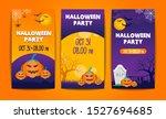 vector set of halloween party... | Shutterstock .eps vector #1527694685