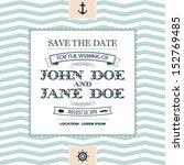wedding invitation | Shutterstock .eps vector #152769485