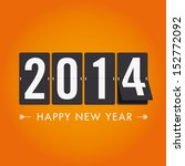 happy new year 2014 card.... | Shutterstock .eps vector #152772092