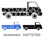truck composition of circle...   Shutterstock .eps vector #1527727202