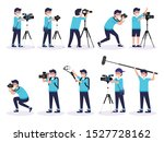 Set Of Photographer Taking...