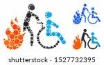 fire patient evacuation mosaic...   Shutterstock .eps vector #1527732395