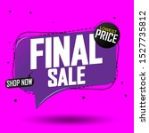 final sale  promotion tag... | Shutterstock .eps vector #1527735812