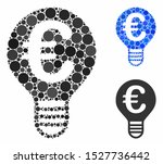 euro bulb mosaic of small... | Shutterstock .eps vector #1527736442