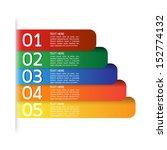 vector progress icons for five...   Shutterstock .eps vector #152774132