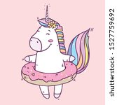 vector illustration with cute... | Shutterstock .eps vector #1527759692