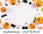 top view of halloween crafts ... | Shutterstock . vector #1527767015