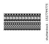 artistic polynesian tattoo... | Shutterstock .eps vector #1527799775