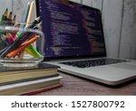 the screen of the program... | Shutterstock . vector #1527800792