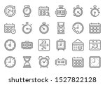 outline time icon. timekeeper ...
