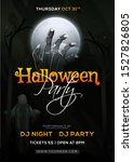 halloween party template or... | Shutterstock .eps vector #1527826805