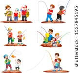 collection fisherman fishing... | Shutterstock .eps vector #1527845195