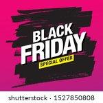 black friday sale banner layout ...   Shutterstock .eps vector #1527850808