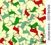 winter deer seamless background.... | Shutterstock .eps vector #152786366