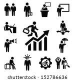 vector black business persons... | Shutterstock .eps vector #152786636