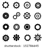 vector black gearwheel... | Shutterstock .eps vector #152786645