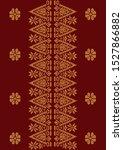 batik songket pattern vector...   Shutterstock .eps vector #1527866882