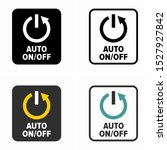auto on off switch button symbol | Shutterstock .eps vector #1527927842