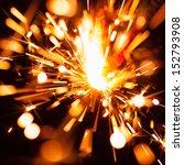 colorful christmas sparkler | Shutterstock . vector #152793908