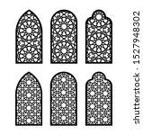 arabesque arch window or door... | Shutterstock .eps vector #1527948302