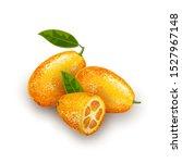 exotic fruit kumquat with green ...   Shutterstock .eps vector #1527967148
