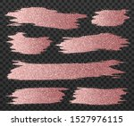 rose gold glitter brush strokes ...   Shutterstock .eps vector #1527976115