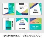 gradient sale social media post ...   Shutterstock .eps vector #1527988772