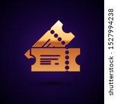 gold cinema ticket icon... | Shutterstock .eps vector #1527994238
