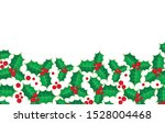 vector background with holly... | Shutterstock .eps vector #1528004468