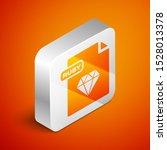 isometric ruby file document.... | Shutterstock .eps vector #1528013378
