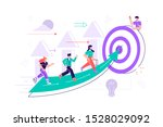 vector. people run to their...   Shutterstock .eps vector #1528029092