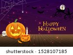 halloween beauty vector night... | Shutterstock .eps vector #1528107185