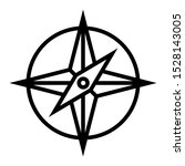 compass icon vector design...