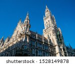 A View of The New Town Hall(Neues Rathaus) in Munich, Germany.