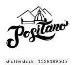 positano. the name of italian... | Shutterstock .eps vector #1528189505