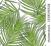 green vector palm leaves.... | Shutterstock .eps vector #1528190528
